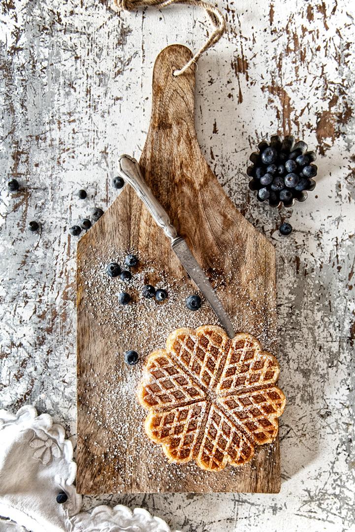 Rezepte hier Heidelbeere mit Waffel auf dem Blog von Gundi in tour
