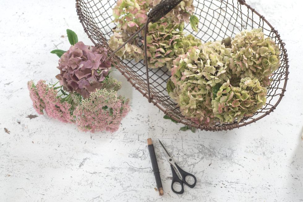 Herbstlicher Hortensienkranz …eine Hommage an den Sommer!