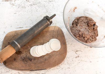 Teig-Schokoladenplätzchen
